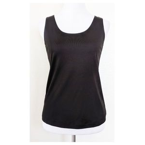 CHICO'S 0 Size S NWT Black Tank Top